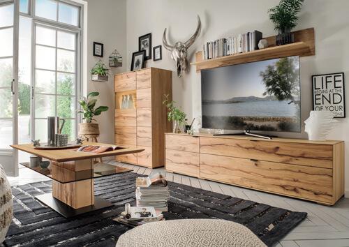 tv schrank highboard wandregal wildbuche massiv geolt
