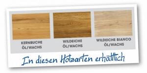 Wahlmöglichkeit aus Holzarten bei Konfigurieren der Möbel