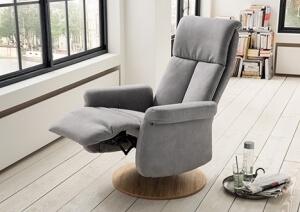 Relaxsessel mitLiegefunktion und wahlweise mit Motor in hellgrau - neu im Möbelgeschäft Scan Life in Kolbermoor